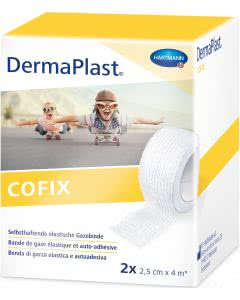 Dermaplast COFIX Gazebinde - 2.5cmx4m - 2 Stk.