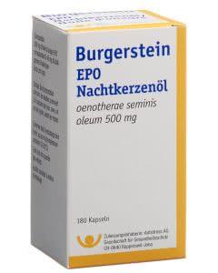 Burgerstein - EPO Nachtkerzenöl Kapseln 500mg - 180 Stk.