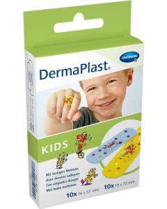 DermaPlast KIDS Schnellverband Strips in 2 Grössen - 2 x 10 Stk.