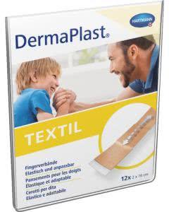 DermaPlast Textil Fingerverbände 2cm x 16cm - 12 Stk.