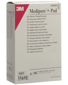 3M  Medipore Pad 10cm x 15cm - 25 Stk. à 5 x 10.5cm