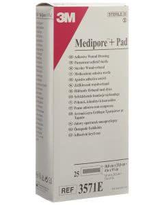 3M  Medipore Pad 10cm x 25cm - 25 Stk. à 5 x 20.5cm