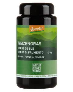 Naturkraftwerke Weizengras Pulver Demeter - 50g