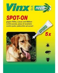 Vinx Bio Spot-On Tropfen mit Neem Hund - 5x1ml