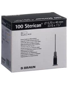 Sterican Nadel 22G 0.70x40mm schwarz Luer - 100 Stk.