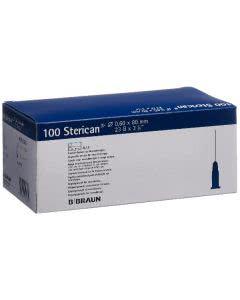 Sterican Nadel 23G 0.60x80mm blau Neu Luer - 100 Stk.