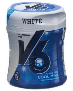V6 White Kaugummi Cool Mint Dose - 60 Stk.