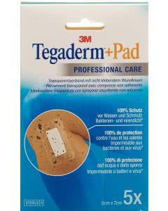 3M Tegaderm + Pad, Wundkissen - 2.5 x 4.0cm - 5 Stk.
