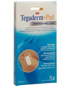 3M Tegaderm + Pad, Wundkissen - 2.5 x 6.0cm - 5 Stk.