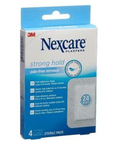 3M Nexcare Strong hold Sterile Pads - 76.2mm x 101mm - 4 Stk.
