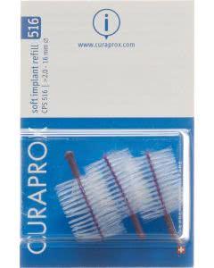 Curaprox CPS 516 soft implant refil violett - 3 Stk