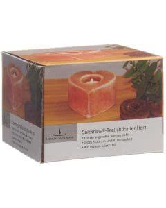 Vitasal Salzkristall Teelicht Herz