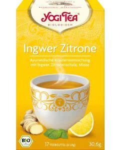 Yogi Tea Ingwer Zitrone Tee Beutel - 17x1.8 g