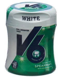 V6 White Kaugummi Spearmint Dose - 60 Stk.