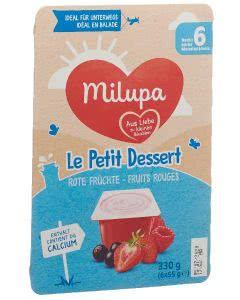 Milupa le Petit Dessert Rote Früchte - 6 x 55g