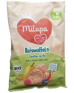 Milupa Bio Reiswaffeln Birne und Beeren Beutel - 180g
