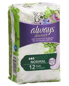 Always Discreet Inkontinenz Binden - Normal - 12 Stk.