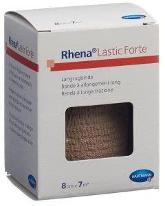 Rhena Lastic Forte 8cmx7m hautfarbig - 10 Stk.