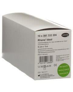 Rhena Ideal Elastische Binde 8cmx5m weiss - 10 Stk.