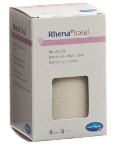 Rhena Ideal Elastische Binde 8cmx5m weiss - 1 Stk.