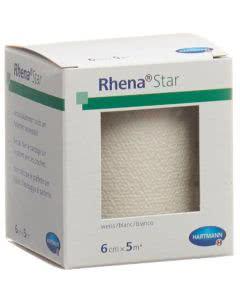 Rhena Star Elastische Binden weiss - 6cmx5m