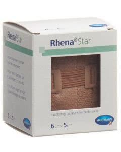 Rhena Star Elastische Binden hautfarbig - 6cmx5m