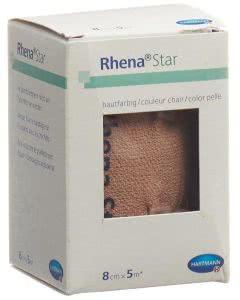 Rhena Star Elastische Binden 8cmx5m hautfarbig