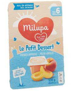 Milupa le Petit Dessert Pfirsich Aprikose - 6 x 55g