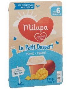 Milupa le Petit Dessert Mango - 6 x 55g