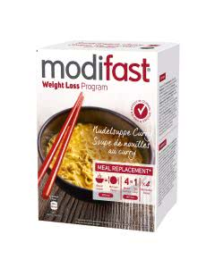 Modifast Programm Nudeln Curry Suppe - 4 Portionen