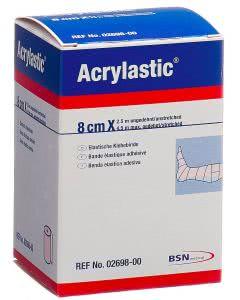 Acrylastic Pflasterbinde elastisch 8cm x 2.5m - 1 Stk.