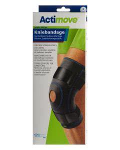 Actimove Sport Kniebandage Verstellbare Pelotte + Stabilisierungsstäbe - Grösse S