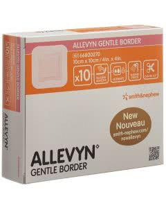 Allevyn Gentle Border Wundverband - 10 Stk. à 10cm x 10cm