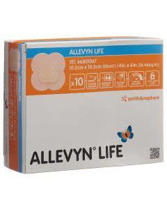 Allevyn Life Silikon-Schaumverband - 10 Stk. à 10.3cm x 10.3cm