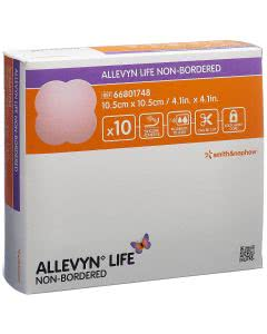 Allevyn Life non-Bordered - 10 Stk. à 10.5cm x 10.5cm