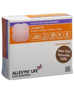 Allevyn Life non-Bordered - 10 Stk. à 5.5cm x 5.5cm