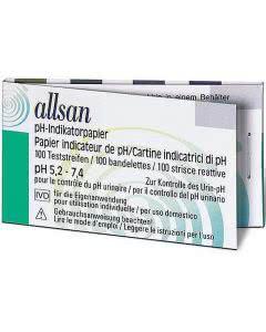 Allsan Urin Test-Streifen pH-Indikator-Papier - 100 Stk.