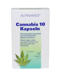 Alpinamed Cannabis 10 - Niacin Melisse - 60 Kaps.