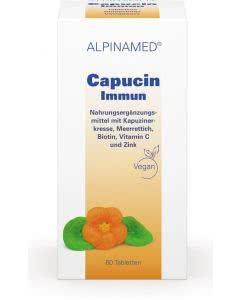 Alpinamed Capucin Immun - Kapuzinerkresse- Meerettich - Zink - Vitamine - 60 Tabl.