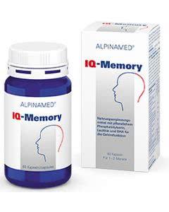 Portofrei: Alpinamed IQ-Memory - Energie fürs Gehirn - 60 Kaps.