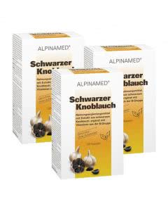 Sparpack + Portofrei! Alpinamed Schwarzer Knoblauch - 3x120 Kapseln