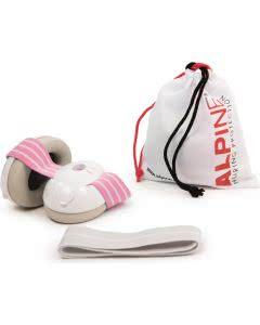 Die Alpine Muffy BABY Gehörschutz mit 2 Bändern - Pink