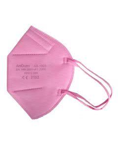 AnDum FFP2 Masken Grippe/Covid AtemSchutz EU-zertifiziert - RoT- 10 Stk.