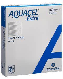 Aquacel Extra Hydrofiber Verband - 10 Stk. à 10cm x 10cm