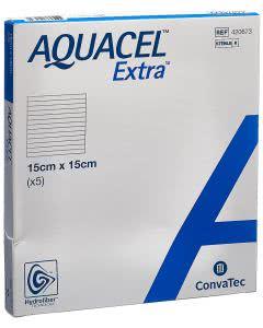 Aquacel Extra Hydrofiber Verband - 5 Stk. à 15cm x 15cm
