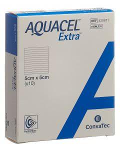 Aquacel Extra Hydrofiber Verband - 10 Stk. à 5cm x 5cm