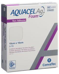 Aquacel Ag Foam nicht-adhäsiv - 10 Stk. à 10cm x 10cm