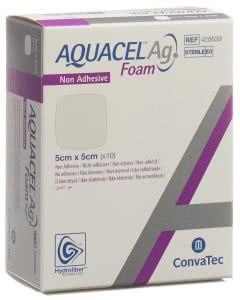 Aquacel Ag Foam nicht-adhäsiv - 10 Stk. à 5cm x 5cm