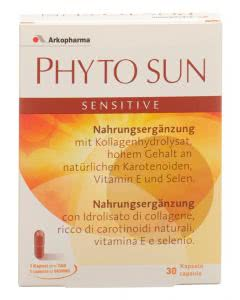 PhytoSUN sensitive - Meereskollagen, beta-Carotin und Selen - 30 Kaps.