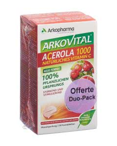 Arkovital Acerola Tabletten 1000 mg Duo - 2 x 30 Stk.